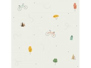 Papel pintado textil autoadhesivo AP Decoration Bicycles Beige