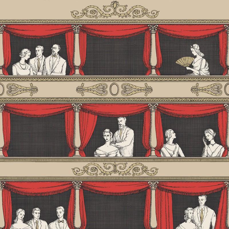 Papel pintado Cole & Son Fornasetti Senza Tempo Teatro 114-18037