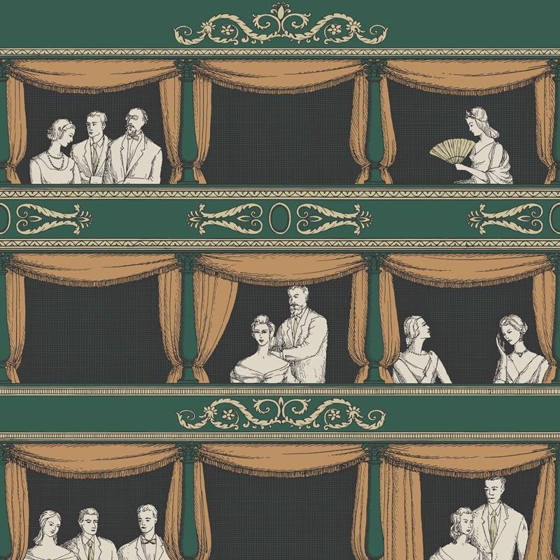 Papel pintado Cole & Son Fornasetti Senza Tempo Teatro 114-4009