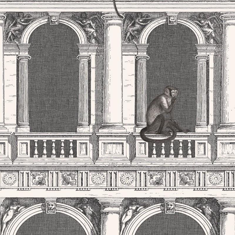 Papel pintado Cole & Son Fornasetti Senza Tempo Procuratie e Scimmie 114-21041