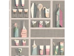 Papel pintado Cole & Son Fornasetti Senza Tempo Cocktail 114-23044