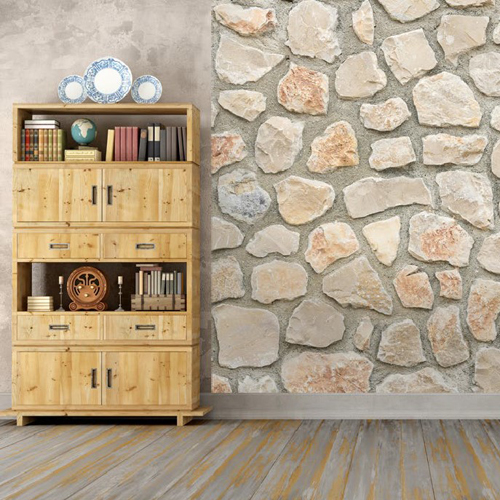 Fotomural Stone, Brick and Wood 5197-4V-1