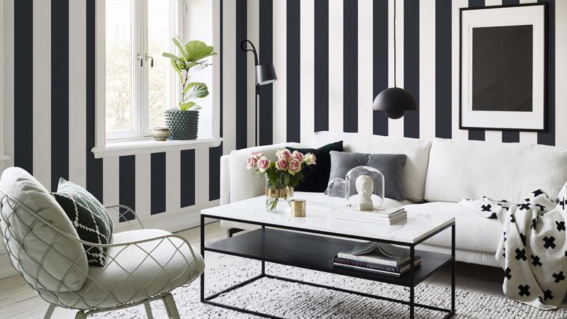 Papel pintado Rand Scandinavian Stripes de Sandberg