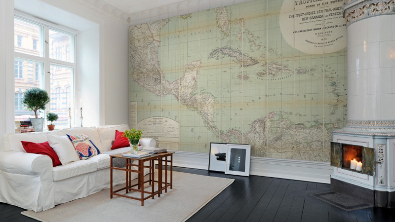 Murales decorativos Maps de Rebel Walls