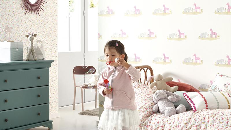Papel pintado infantil Rose & Nino