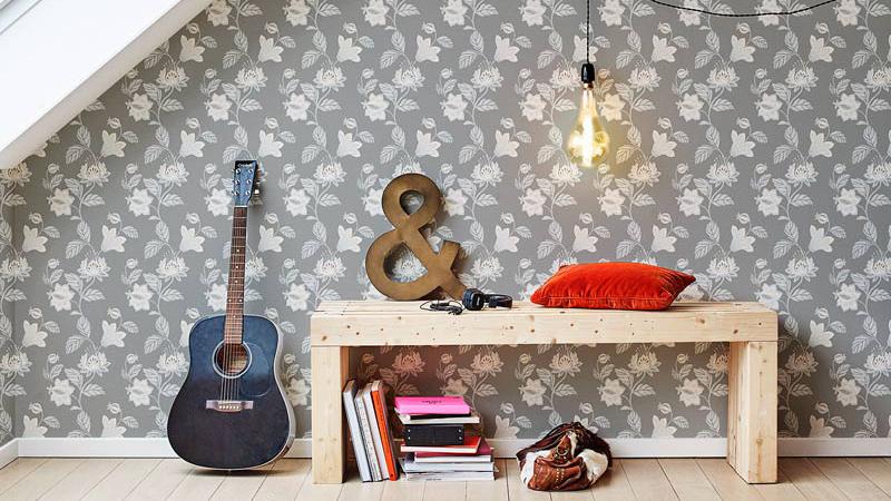 Papel pintado Living@Home de Fiona Walldesign