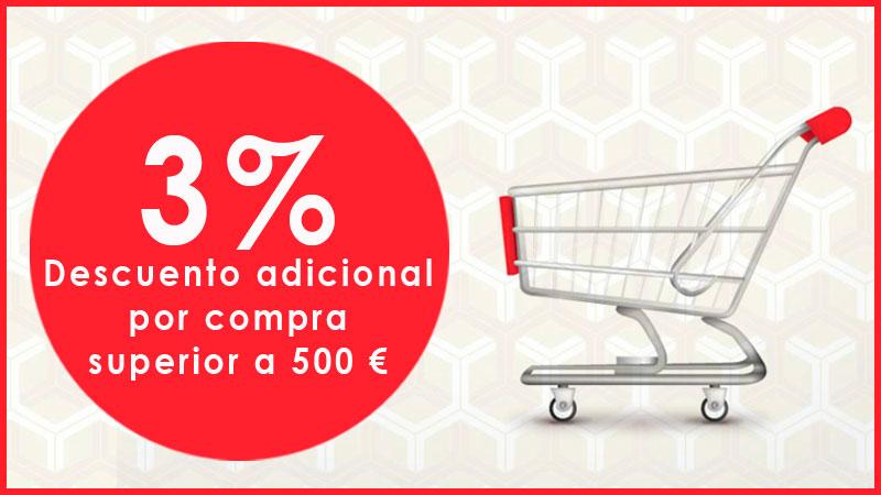 Descuento adicional compra 500 euros