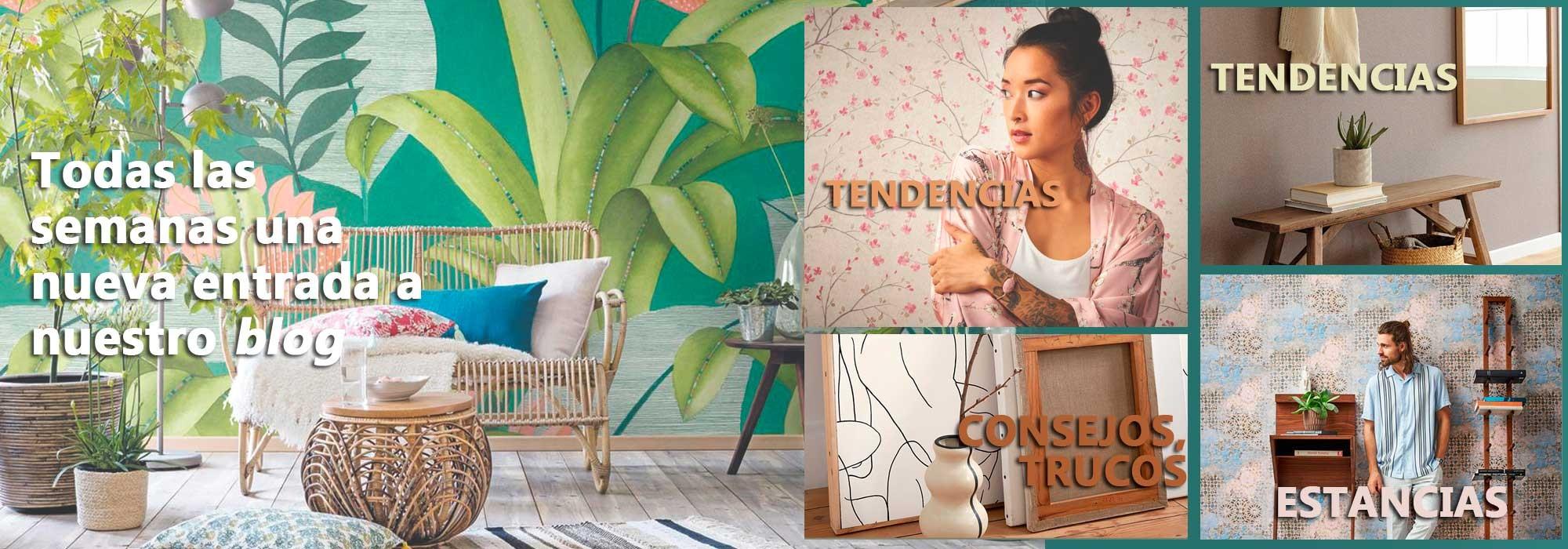 Blog de tendencias y novedades en papeles pintados, papeles de pared, murales, revestimientos de pared, decoración de interiores...