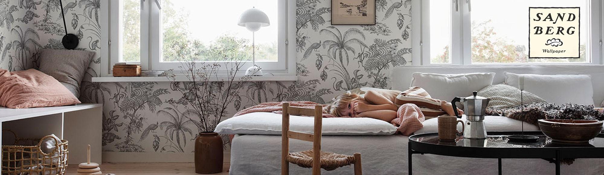 Papel pintado Familj II de Sandberg 100% estilo escandinavo